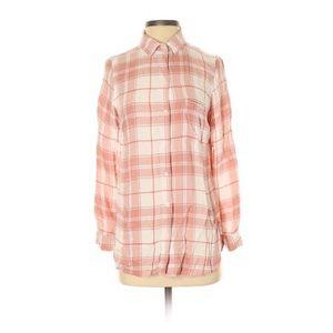Old Navy Blush Pink Plaid Shirt S